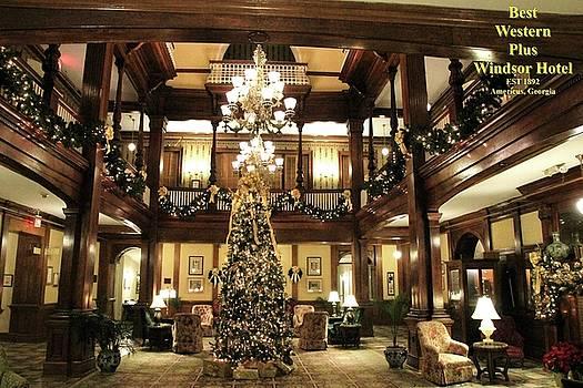Best Western Plus Windsor Hotel Lobby - Christmas by Jerry Battle