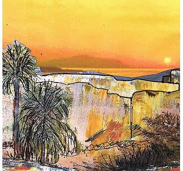 Patricia Taylor - Bethelem Sunset Sketch