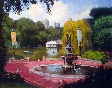 Bethezda Fountain Central Park NYC by David Olander