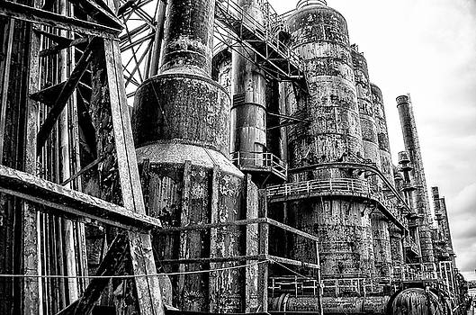 Bethlehem in Black and White - Steel Mill by Bill Cannon