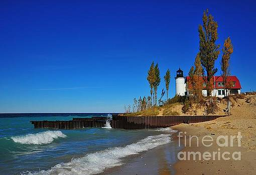 Terri Gostola - Betsie Point Lighthouse on Lake Michigan
