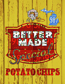 Design Turnpike - Better Made Potato Chips Michigan License Plate Art