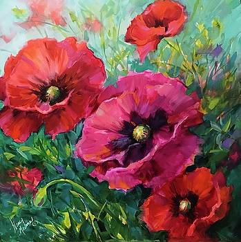 Better Together Poppies by Nancy Medina
