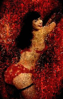 Bettie Page Painting Art Signed Prints available at laartwork.com Coupon Code KODAK by Leon Jimenez