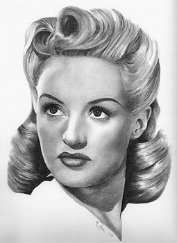Betty Grable by Karen  Townsend