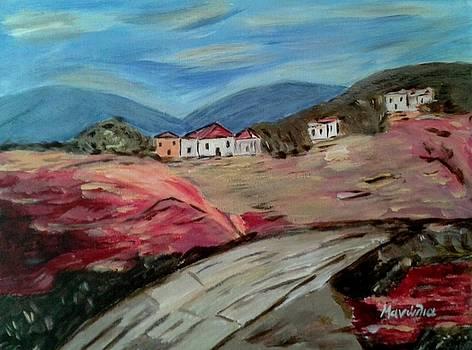 Between the mountains by Manolia Michalogiannaki