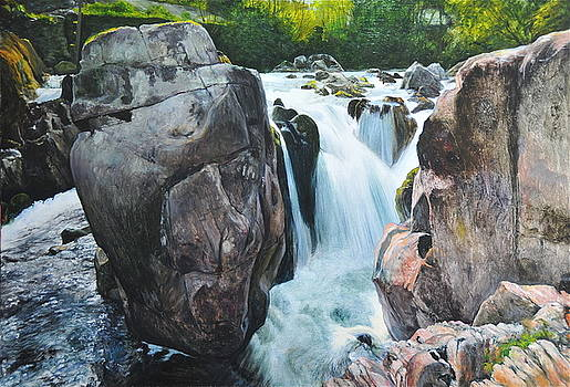 Harry Robertson - Betws-y-Coed Waterfall in North Wales