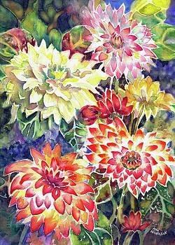 bety's Dahlias by Ann Nicholson