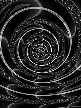 Beyond Your Wildest Lucid Dreams Black And White by Georgiana Romanovna