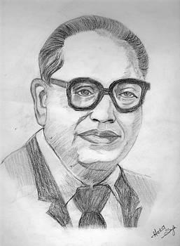 Bhim Rao Ambedkar by Archit Singh