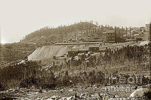 Bi-Metallic Mine - Granite, Montana Circa 1890 by California Views Mr Pat Hathaway Archives