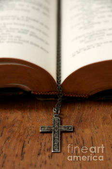 Bible and Cross by Birgit Tyrrell