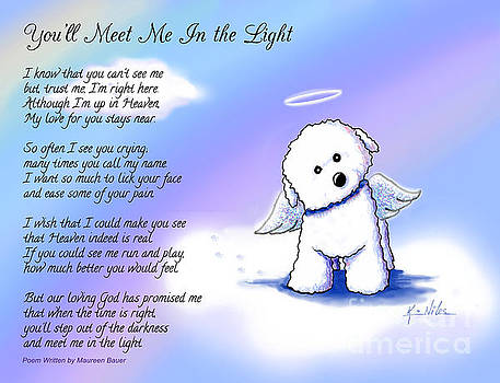 Bichon Frise Angel with Poem by Kim Niles