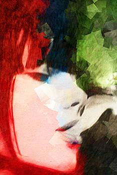 Bicolor Smoking Woman by Andrea Barbieri