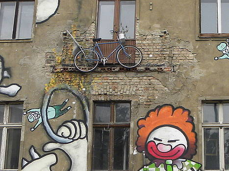 Bicycle balcony by Christine  Davis
