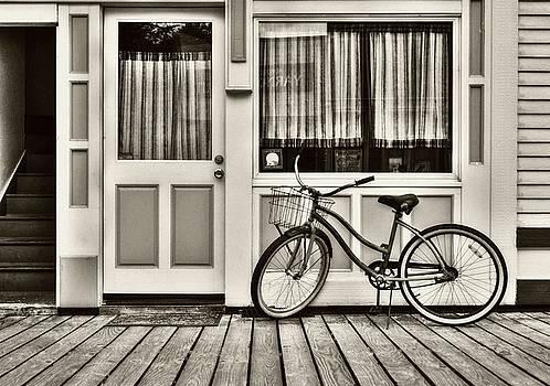 Mel Steinhauer - Bicycle In Skagway Sepia Tone