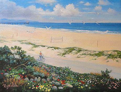 Bicycle Path Along the Strand by Carol Reynolds
