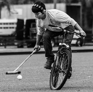 Bicycle Polo #4 by Michael Gora