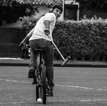 Bicycle Polo #5 by Michael Gora