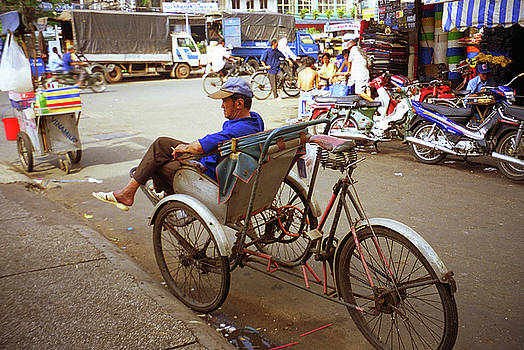 Bicycle Rickshaw For Hire by Rich Walter