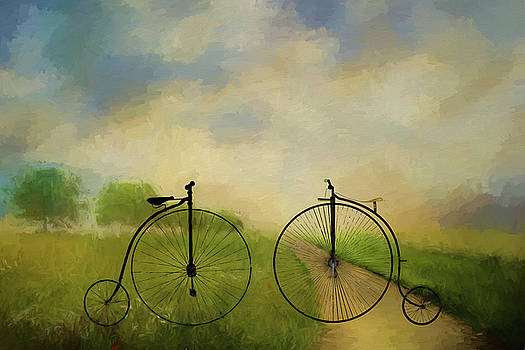 Bicycle Ride in the Country - Painting by Ericamaxine Price