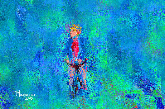 Bicycle Rider by Michael A Klein