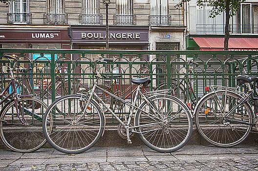 Bicycles in Paris by Karen Hermann