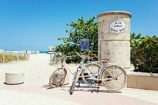 Lorrie Joaus - Bicycles on Miami Beach Boardwalk