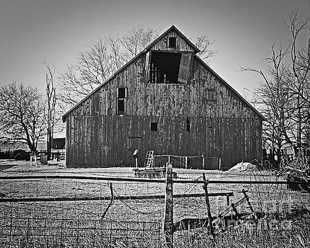 Big Barn With Overhang by Kathy M Krause