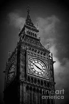 Big Ben in black and white by Hanni Stoklosa