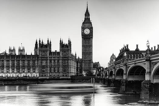 Big Ben Parliament  and a Boat by Wendy Chapman