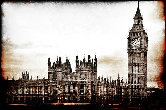 Big Bend and the Palace of Westminster by Jennifer Wright