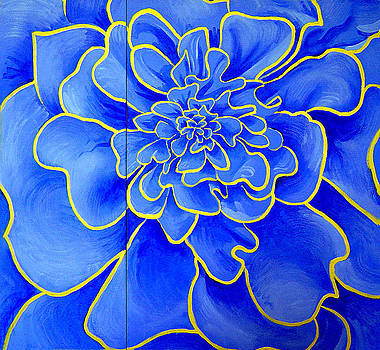 Big Blue Flower by Geoff Greene
