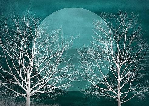 Patricia Strand - Big Blue Moon Silhouette