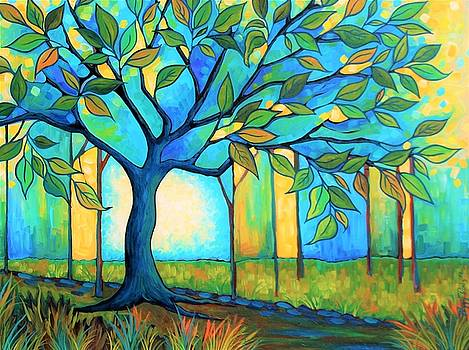 Big Blue Tree by Peggy Davis