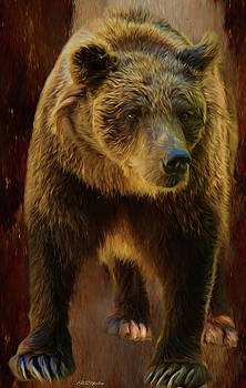 Big Brown Bear - Painting by Ericamaxine Price