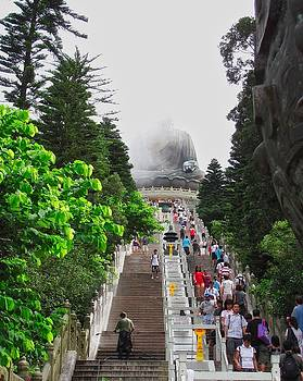 Big Buddha Lantau Island  by Mark J Dunn