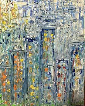 Big City  11x14 acrylic On Canvas-$60 by Christine Sidhom Smart