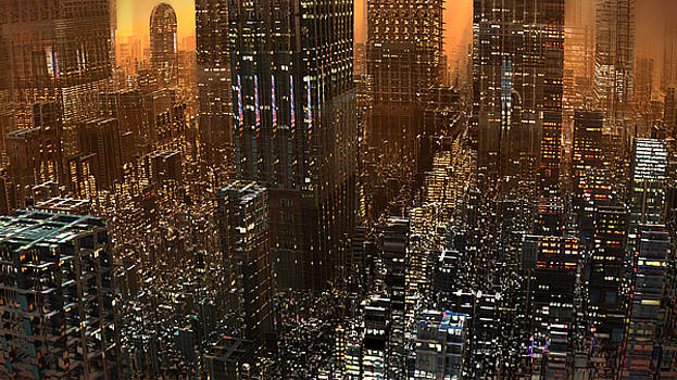 Big City Sunset by Hal Tenny