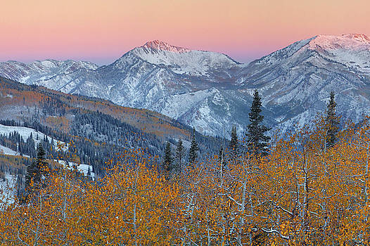Big CottonWood Canyon Wasatch Sunrise by Dean Hueber