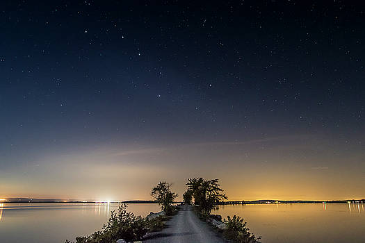 Big Dipper over the Causeway by Dave Schmidt