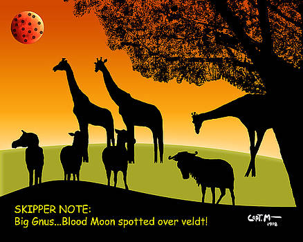 Big Gnus... Blood Moon Spotted by Mickey Wright