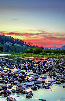 Big Hole River sunset by Bryan Carter