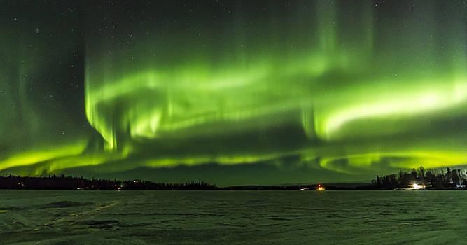 Big Lake Aurora by Kyle Lavey