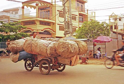 Big Load On Cyclo Rickshaw by Rich Walter