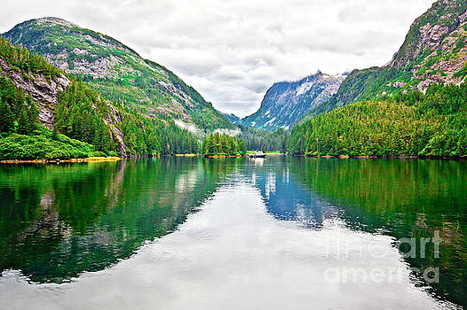 Big Mountain Reflections in Patterson Bay Alaska by Christy Woodrow