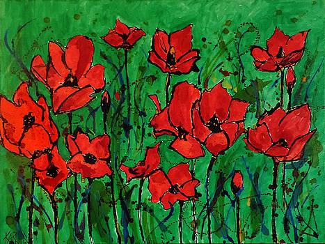 Big Poppies by Art by Kar