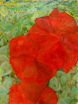 Big Red Flowers by Jerry Hanks