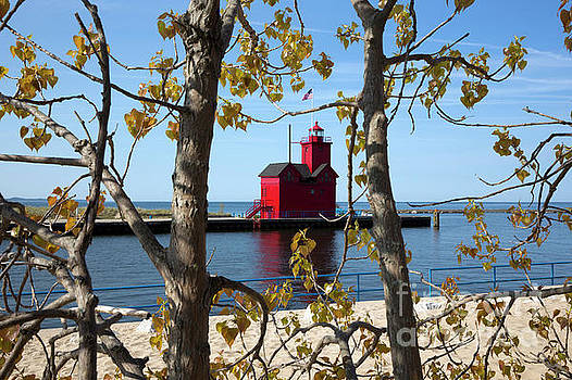 Big Red Lighthouse #3 by Denise Woldring