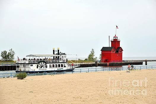 Terri Gostola - Big Red Lighthouse in Holland Michigan USA